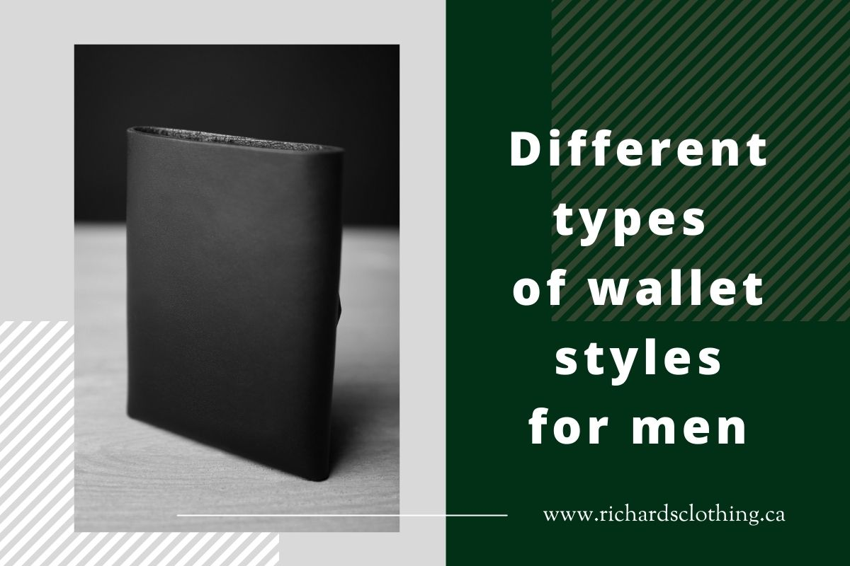 Different types of wallet styles for men